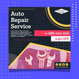 Mechanic flyer template design