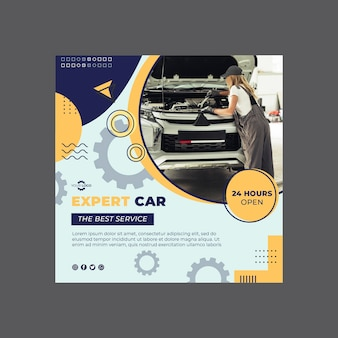 Mechanic flyer template