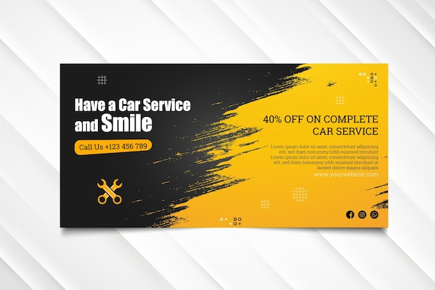 Mechanic hub banner template