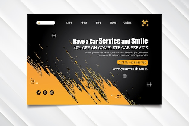 Mechanic hub landing page template