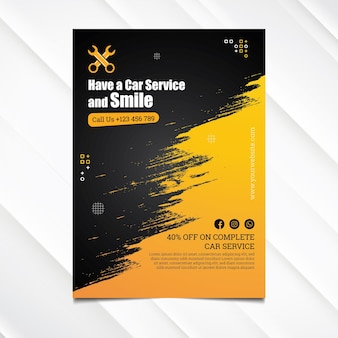 Mechanic hub poster template