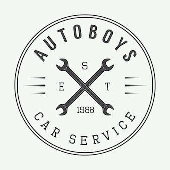 Mechanic label, emblem
