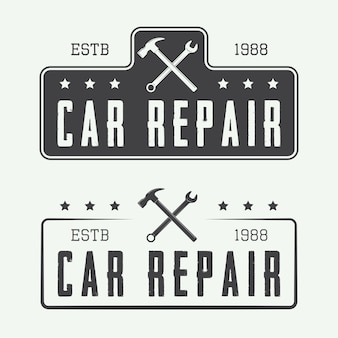 Mechanic labels or logo emblems