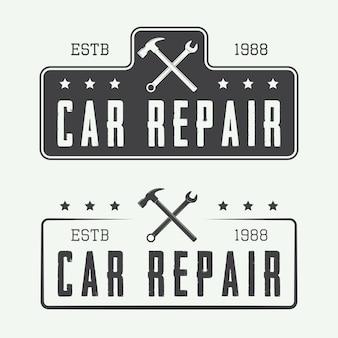 Mechanic labels or logo emblems