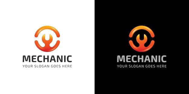 Mechanic logo letter m corporate automotive