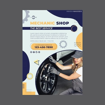 Mechanic poster template