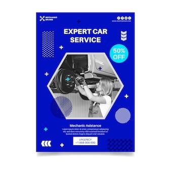 Mechanic poster template