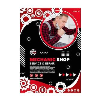 Modello di poster meccanico Vettore gratuito
