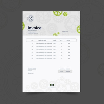 Mechanic and service invoice template