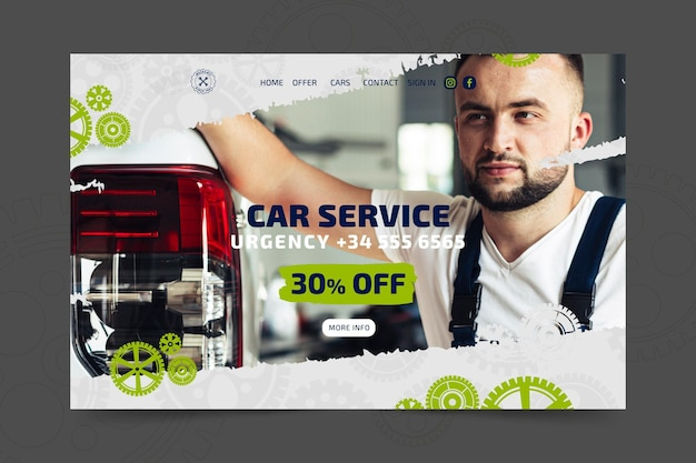 Mechanic and service landing page template