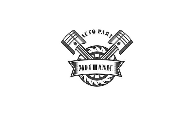 Mechanic services engineering repair logo design