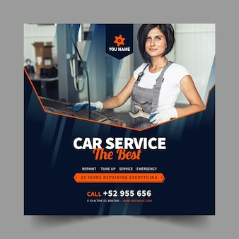 Mechanic squared flyer template