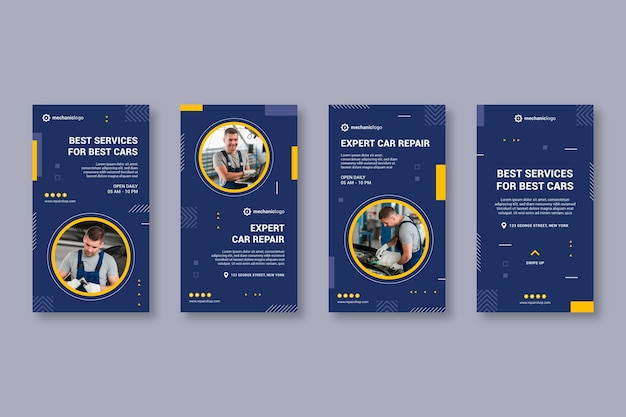 Mechanic stories collection template