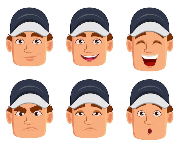 Mechanic, various facial expressions