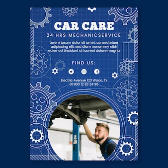 Mechanic vertical flyer template