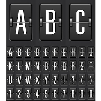 Mechanical countdown timer - flip calendar or game scoreboard numbers and letters