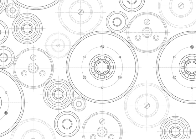 Mechanical engineering background.rotating gears.