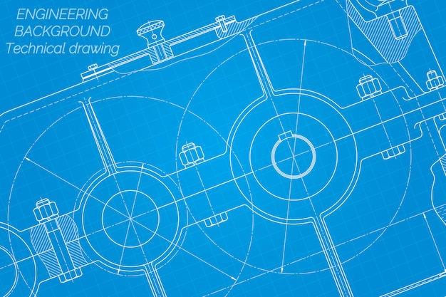 Mechanical engineering drawings. reducer. technical design.