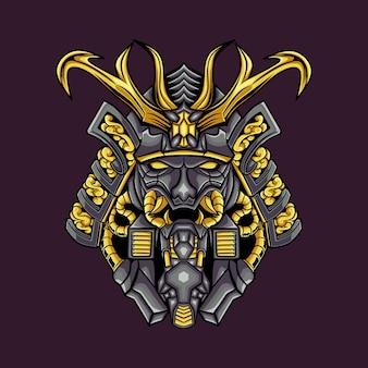 Mechanical illustration evil skull