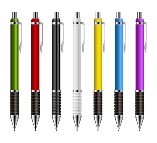 흰색 절연 기계적인 연필 그림