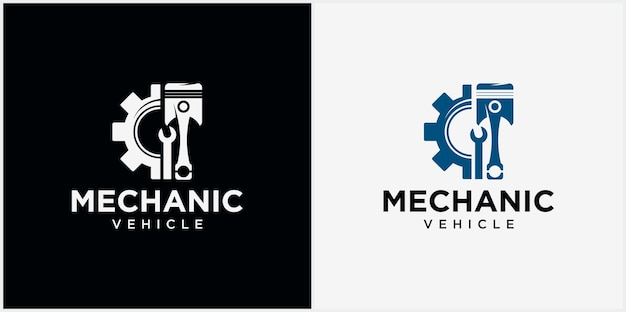 Mechanical technology logo automotive logo symbol vector illustration of a piston logo