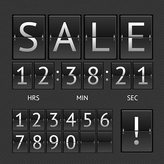 기계적인 timtable 판매. 카운트 다운의 개념