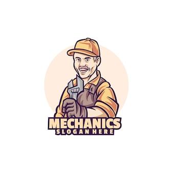 Шаблон логотипа механики