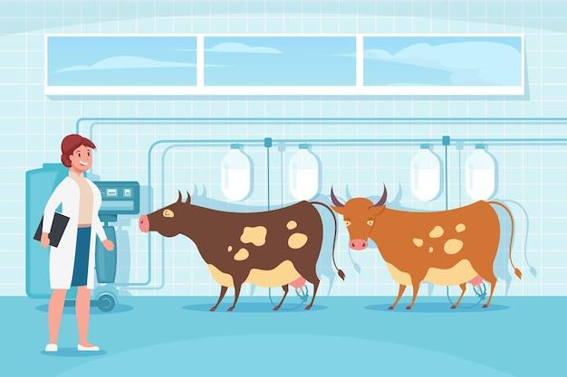 Состав механизированного доения коров