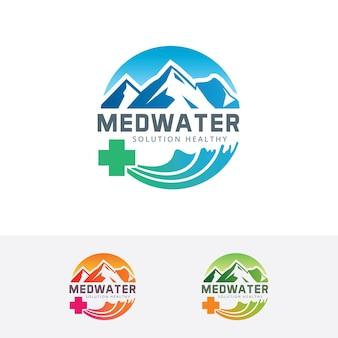 Med water vector logo template