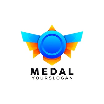 Medal colorful logo design template