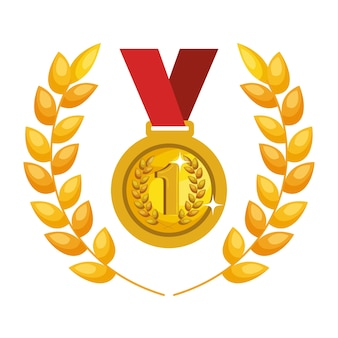 Medal first place icon vector illustration design