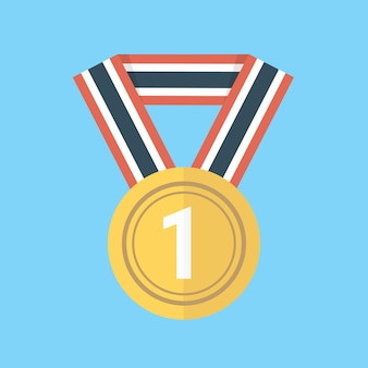 Medal icon flat design