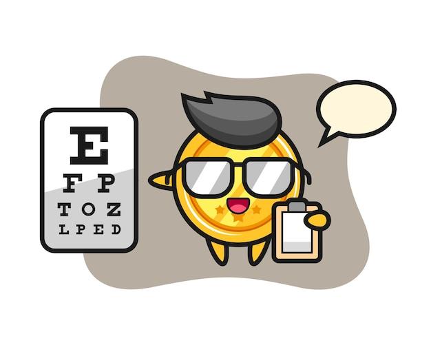眼科としてのメダルマスコット
