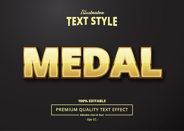 Medal text effect