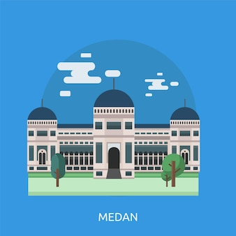 Medan background design