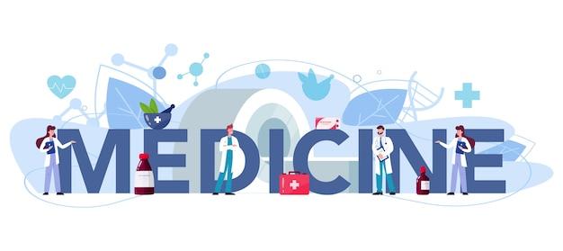 Medecine typographic header illustration