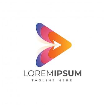Шаблон логотипа media fly