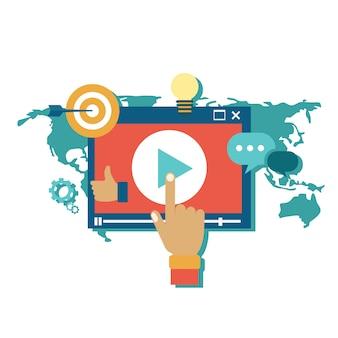 Media marketing concept