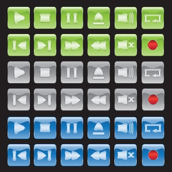 Media player buttons collection