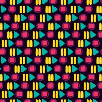 Media player colorful button flat seamless pattern