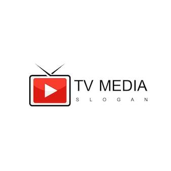 Media and tv logo design template