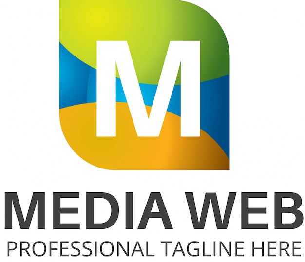 Media web logo template.