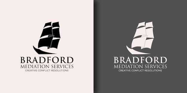 Шаблон логотипа услуги посредничества с современной концепцией