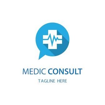 Medic consult logo images illustration