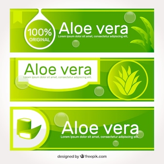 Medical aloe vera banner