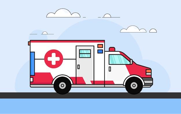 Medical ambulance car vector clipart