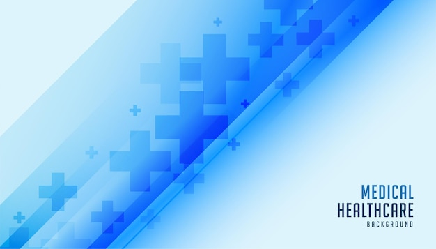 의료 및 의료 파란색 배경