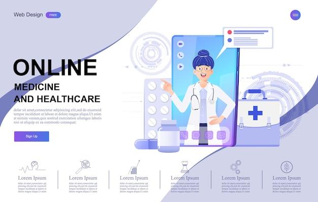 医療およびヘルスケアのオンライン相談バナー