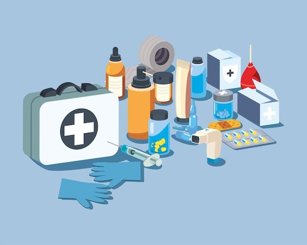 医療と医学のシンボルバンドル