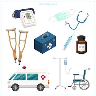 Медицинское и общественное медицинское оборудование, такое как манометры, дрова, средства для ходьбы, шприцы, медицинские маски, инвалидные коляски, машины скорой помощи.
